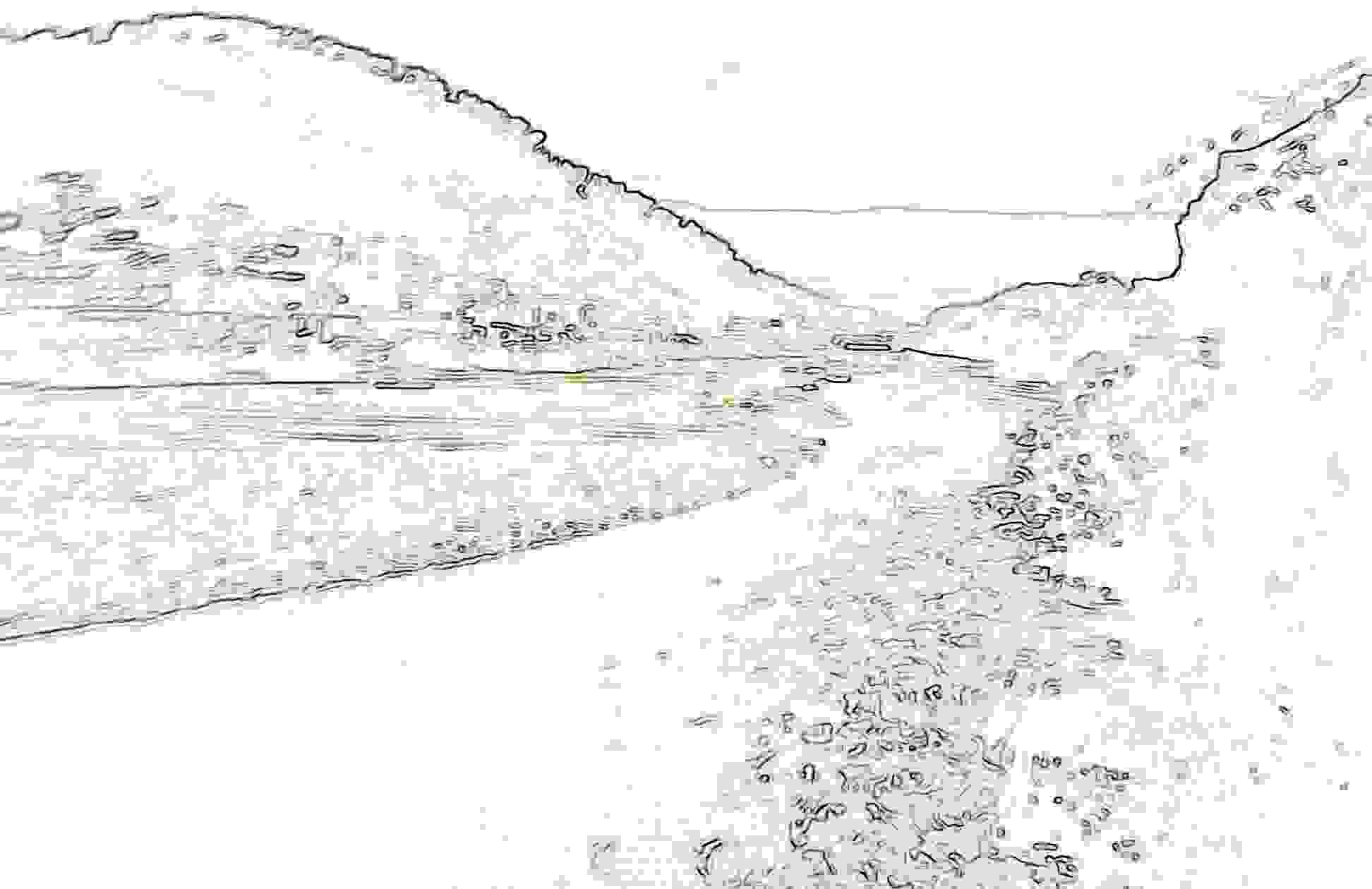 Berge Und Fluss Einfach Ausmalen